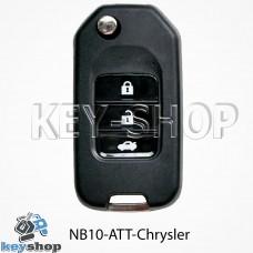 Ключ заготовка (NB10 - ATT - Chrysler) для программатора KD900, KD900+, KD mini