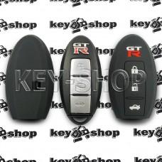 Чехол силиконовый смарт ключа Nissan GT-R (Ниссан Джи-Ти-Эр) 3 кнопки