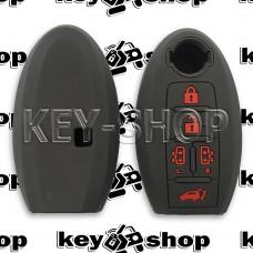 Чехол силиконовый смарт ключа Nissan (Ниссан) 5 кнопок