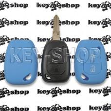 Чехол (синий, силиконовый) для авто ключа Opel (Опель) 2 кнопки