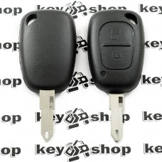 Корпус автоключа для Opel (Опель) MOVANO, VIVARO - 2кнопки, лезвие NE73