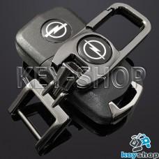 Брелок для ключа Opel (Опель), (темный хром), с карабином