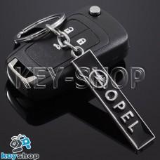 Металлический (черный) брелок для авто ключей Опель (Opel)