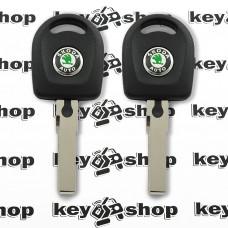 Корпус авто ключа под чип для SKODA (шкода) , лезвие HU66