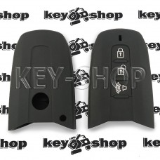 Чехол силиконовый смарт ключа SsangYong (СсангЙонг) (черный ) 3 кнопки