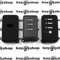 Чехол (черный, силиконовый) для смарт ключа Subaru (Субару) 4 кнопки