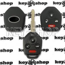 Чехол (черный, силиконовый) для авто ключа Subaru (Субару) 3 + 1 кнопки