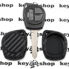 Чехол (силиконовый, под карбон) для авто ключа Suzuki (Сузуки)