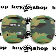 Чехол (комуфляж, силиконовый) для авто ключа Toyota (Тойота) 2 кнопки