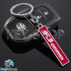 Металлический (красный) брелок для авто ключей Toyota FJ Cruser (Тойота Эф - Джей Крузер)