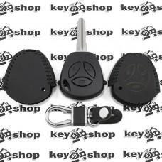 Кожаный чехол (с черной строчкой), для выкидного ключа Vaz (Ваз) 3 кнопки