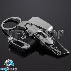 Металлический брелок для авто ключей Volkswagen R - Line (Фольксваген Р - Лайн)