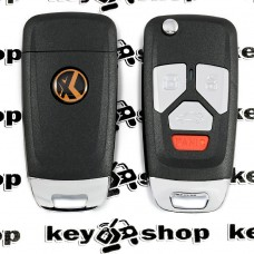 Универсальный автоключ для программатора XHorse, Audi Style Wireless (XNAU02EN) 3 + 1 кнопки