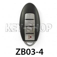Ключ заготовка (ZB03-4) для программатора KEYDIY (KD-X2, KD900, KD900+, KD MINI)