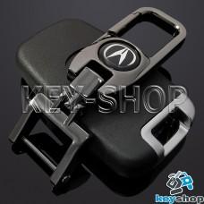 Брелок для ключа Acura (Акура), (темный хром), с карабином