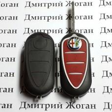 Оригинальный выкидной ключ для Alfa Romeo (Альфа Ромео) с чипом id46 (PCF7946) 433Mhz
