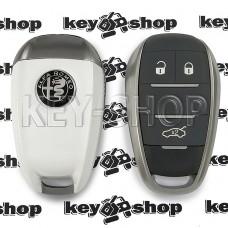 Cмарт ключ для Alfa Romeo (Альфа Ромео) 3 кнопки, с чипом 4A, HITAG AES, 433Mhz