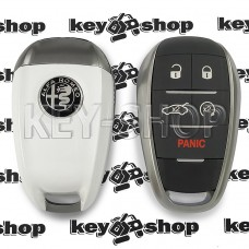 Cмарт ключ для Alfa Romeo (Альфа Ромео) 4 + 1 кнопки, с чипом 4A, HITAG AES, 433Mhz