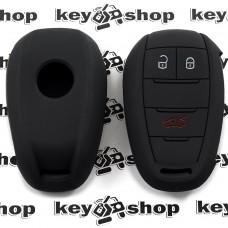 Чехол (черный, силиконовый) для смарт ключа Alfa Romeo (Альфа Ромео) 3 кнопки