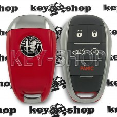 Корпус смарт ключа Alfa Romeo (Альфа Ромео) 4 + 1 кнопки (panic)