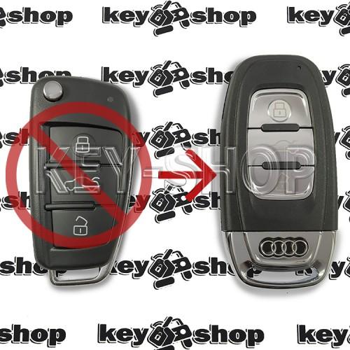 Корпус смарт ключа Audi (Ауди) 3 кнопки (под переделку)