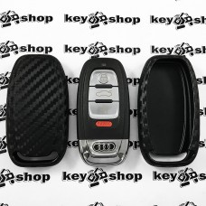 Чехол (cиликоновый, под карбон) для смарт ключа Audi (Ауди)