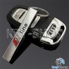 Металлический брелок для авто ключей Audi S-Line (Ауди)