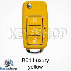 Ключ заготовка (B01 luxury yellow) для программатора KEYDIY, KD-X2, KD Mini