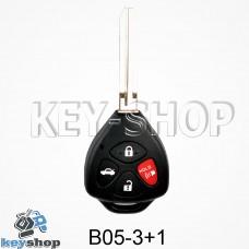 Ключ заготовка (B05 - 3 + 1) для программатора KD900, KD900+, KD mini