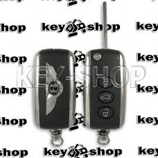 Выкидной ключ Bentley (Бентли) 3 кнопки, PCF7942, чип ID46 (Keyless Go) 433 MHZ