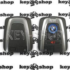 Корпус смарт ключа  BMW (БМВ) 3 + 1 кнопки, с лезвием