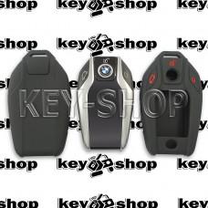 Чехол силиконовый для смарт ключа BMW (БМВ) 3 кнопки (черный)