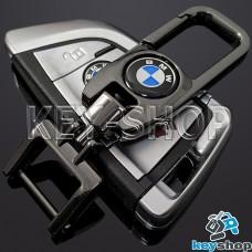 Брелок для ключа BMW (БМВ), (темный хром), с карабином