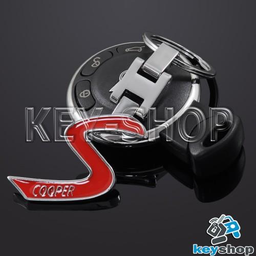 Металлический брелок для авто ключей Mini Cooper (Мини Купер)