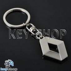 Металлический брелок для авто ключей Renault (Рено)
