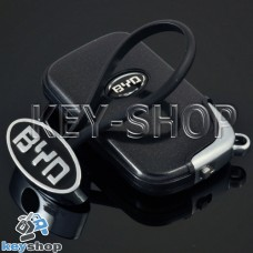 Металлический брелок для авто ключей BYD (Бид)