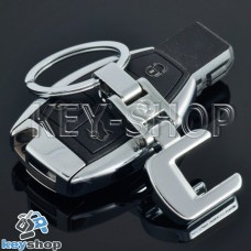 Металлический брелок для авто ключей Mercedes C-Class (Мерседес C-Класс)