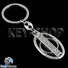 Металлический брелок для авто ключей Nissan (Ниссан)