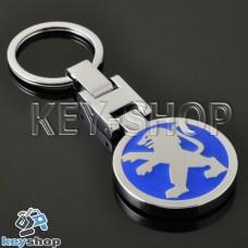 Металлический брелок для авто ключей Peugeout (Пежо)