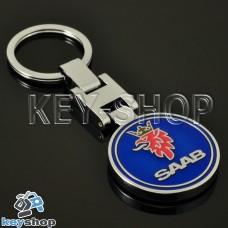 Металлический брелок для авто ключей SAAB (Сааб)