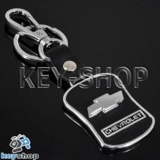 Металлический брелок с кожаными вставками для авто ключей CHEVROLET (Шевролет)