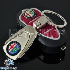 Металлический брелок для авто ключей Alfa Romeo (Альфа Ромео)