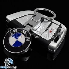 Металлический брелок для авто ключей БМВ (BMW)