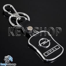 Кожаный брелок с кожаными вставками для авто ключей Опель (Opel)