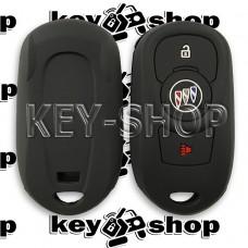 Чехол (черный, силиконовый) для смарт ключа Buick (Бьюик)  2 + 1 кнопки