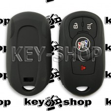 Чехол (черный, силиконовый) для смарт ключа Buick (Бьюик)  3 + 1 кнопки