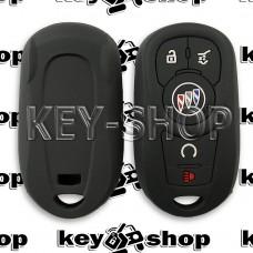 Чехол (черный, силиконовый) для смарт ключа Buick (Бьюик)  4 + 1 кнопки