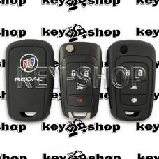 Чехол (черный, силиконовый) для выкидного ключа Buick (Бьюик)  3 + 1 кнопки