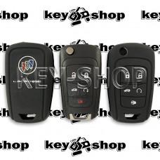 Чехол (черный, силиконовый) для выкидного ключа Buick (Бьюик)  4 + 1 кнопки