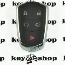Оригинальный смарт ключ Кадиллак (Cadillac) 5 кнопок, id46(HITAG2)/315mhz